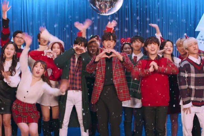 """B1A4, Oh My Girl y ONF de WM publican el MV de su canción navideña """"Timing"""""""