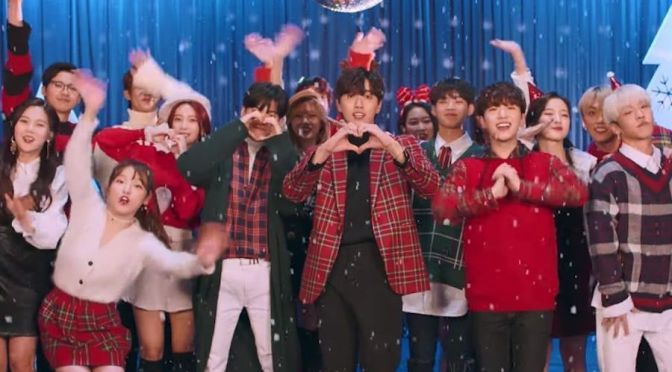 "B1A4, Oh My Girl y ONF de WM publican el MV de su canción navideña ""Timing"""